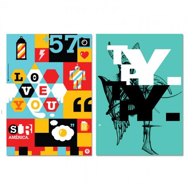 Plakate für doe NewWebPick Exhibition in HK
