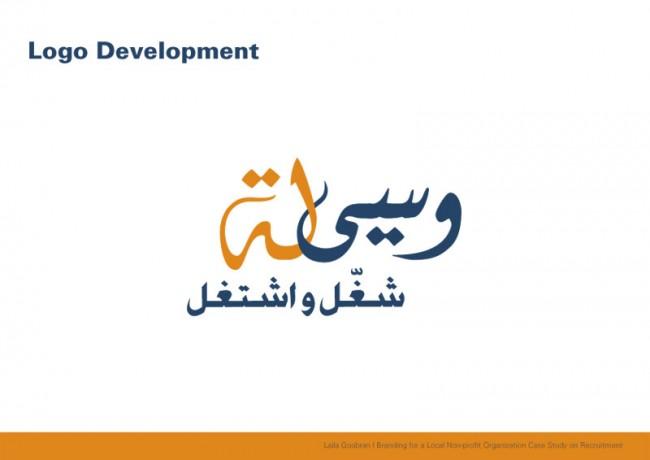 Für die Hilfsorganisation »Wassila«, die ungelernte Arbeiter an Firmen vermittelt, hat Laila Goubran die CI samt Website, Logo und Geschäftsausstattung entwickelt