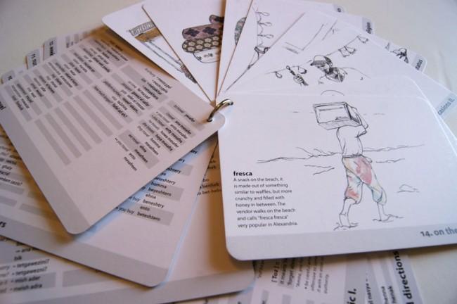 Spielend Arabisch lernen kann man mit dem Karten-Set von Nardine Shenouda