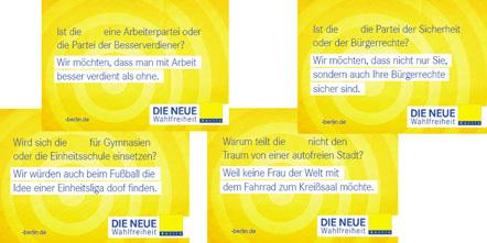 Bild Wahlplakate FDP