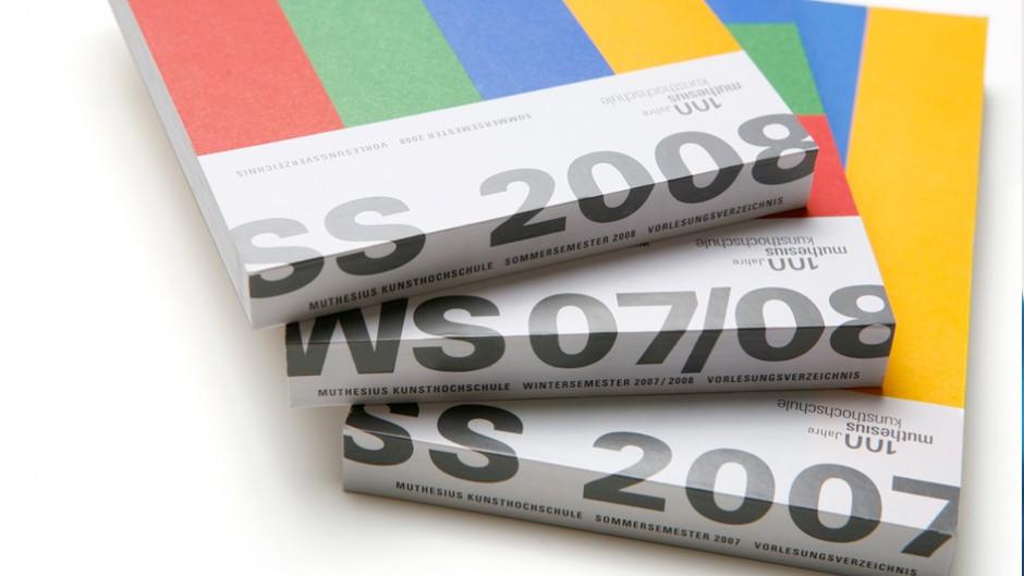 Editorial Design: Muthesius Kunsthochschule – Vorlesungsverzeichnis