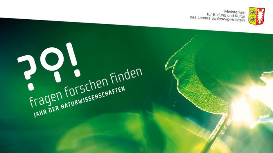Logogestaltung für »fragen forschen finden«: Jahr der Naturwissenschaften / Ministerium für Bildung und Kultur des Landes Schleswig-Holstein