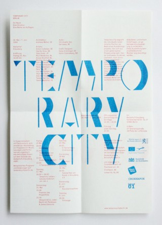 Katalog »Temporary City Berlin« 2010