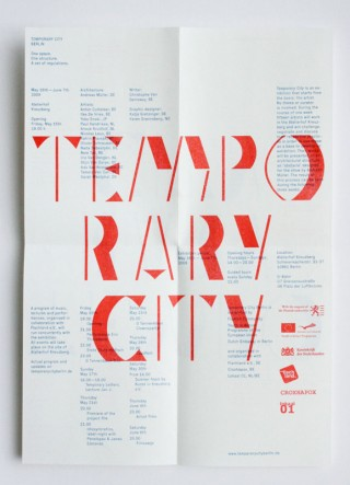 Katalog »Temporary City Berlin« 2010