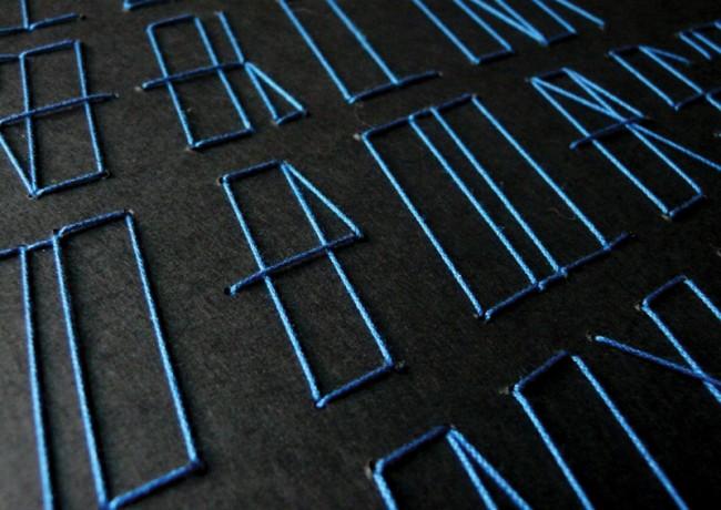 Garaz Typeface Werbe-Plakat, Detail