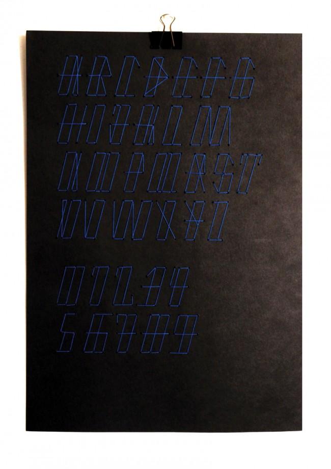 Garaz Typeface Werbe-Plakat