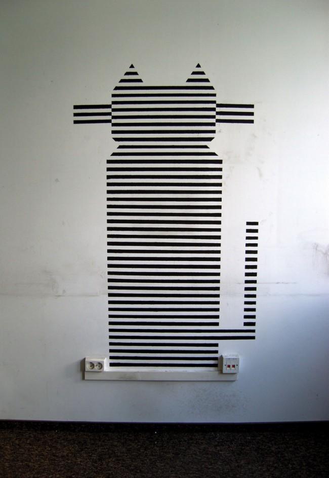 stripe cat, Sprühlack