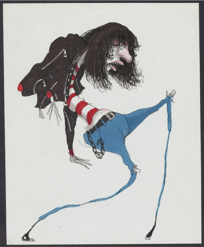 Untitled (Ramone), 1980 - 1990 | Bleistift,Tinte, Marker und Buntstift auf Papier, 27,9 x 22,9 cm | Private Sammlung