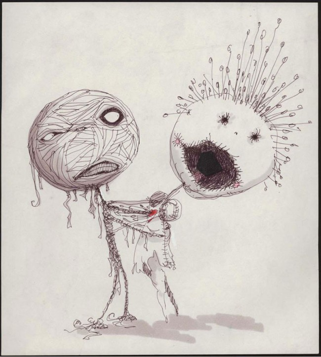 Untitled (The Melancholy Death of Oyster Boy and Other Stories), 1982 - 1984 | Bleistift,Tinte, Marker und Buntstift auf Papier, 25,4 x 22,9 cm | Private Sammlung