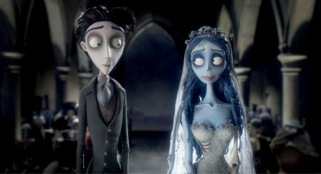 Tim Burton's Corpse Bride, 2005 | Directed by Tim Burton and Mike Johnson | Shown: Victor Van Dort, gesprochen von Johnny Depp, und Corpse Bride, gesprochen von Helena Bonham Carter | Bildrechte bei Warner Bros. Pictures