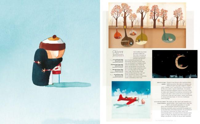 Oliver Jeffers zeichnet Kinderbuchillustrationen, gestaltet Werbung und malt