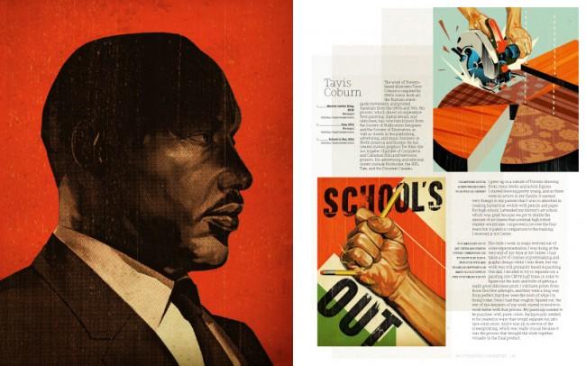 Tavis Coburn lebt in Toronto und seine Arbeiten sind von den Comics der 40er Jahre inspiriert