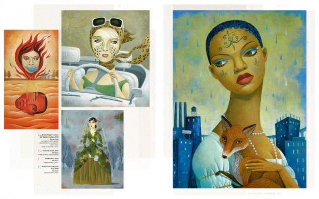 Jody Hewgilll stammt aus Montréal, Québec, und gestaltet unter anderem Poster, Portraits von Prominenten und Buchcover