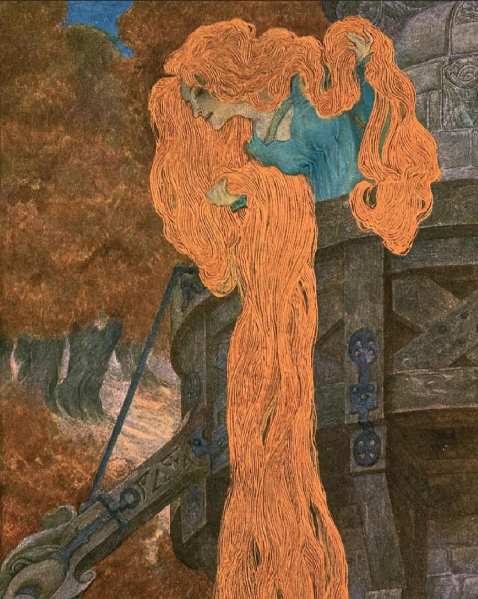 Rapunzel | Heinrich Lefler