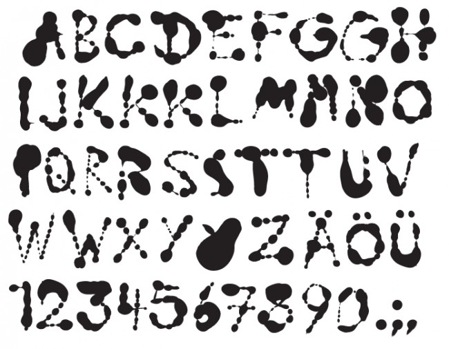 Schrift für die Visual Identity von Troberg