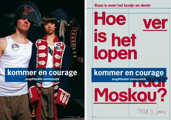Front und Rückseite eines Posters das Teil einer Serie für das Youth Theatre Sonnevanck ist.