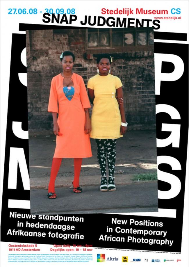 »Snap Judgements«: Poster für eine Ausstellung über zeitgenössische afrikanische Fotografie. Stedelijk Museum, Amsterdam
