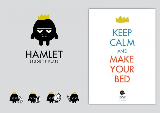Logo, Erscheinungsbild und Werbung für HAMLET Student Flats, 2011