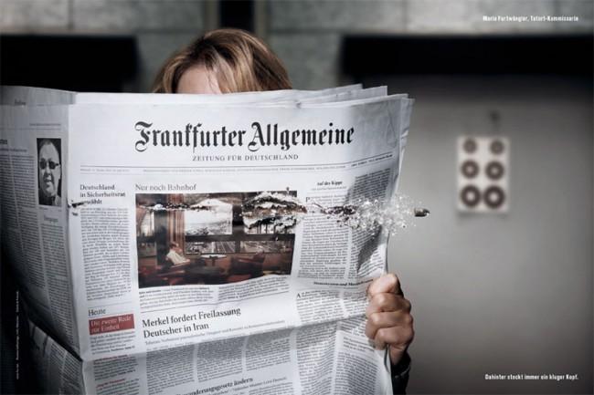 """Die FAZ-Kampagne von Scholz & Friends ist für Ralf Heuel """"Printwerbung in Reinkultur"""""""