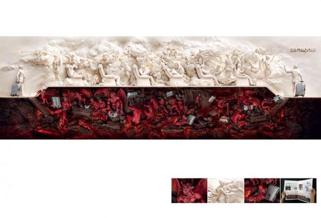 Für die Samsonite-Anzeige gewann JWT Shanghai den Print Grand Prix in Cannes 2011