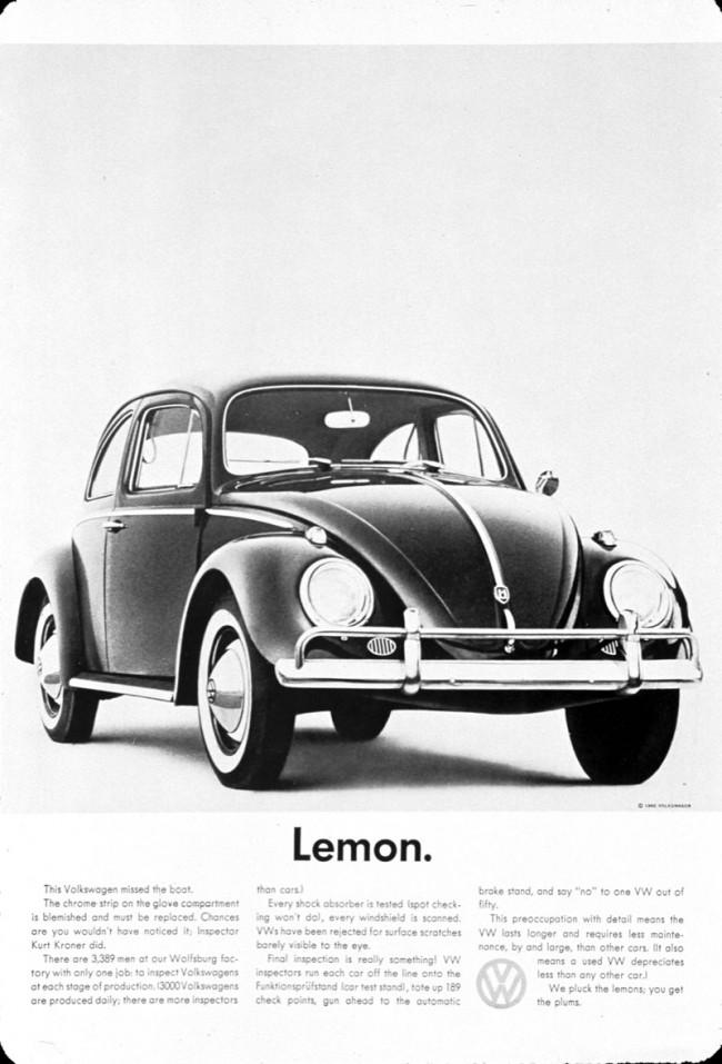 """Der Klassiker von Bill Bernbach und Helmut Krone aus den 1960ern ist für Amir Kassei """"die Mutter aller kreativen Kampagnen"""""""