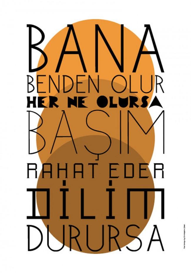 Proben der Schriftfamilie İstambulin von Christopher Çolak, die in Kürze bei der gleichnamigen Foundry erscheinen wird