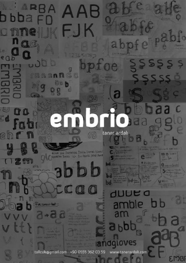 Die auf bionischen Formen basierende Schrift Embrio von Taner Ardali kommt im Türkischen besonders gut zur Geltung