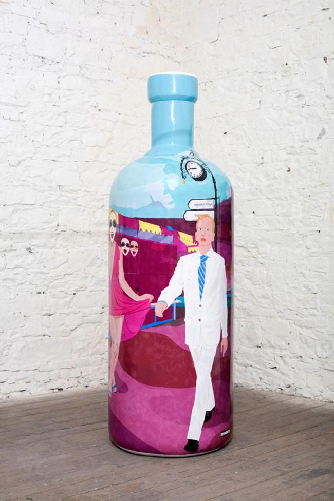 Die Flasche des Illustrators Mario Sughi aus Dublin