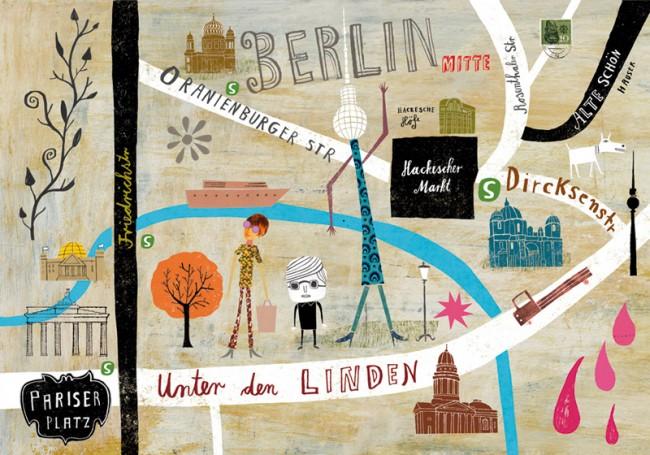 Martin Haake illustrierte die Gegend um Unter den Linden
