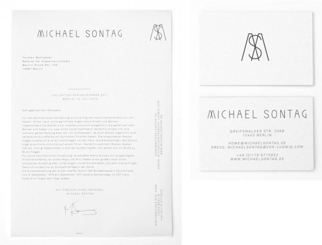 Visual Identity for Michael Sontag 2010—2011
