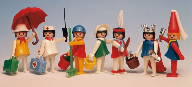 Figurines féminines, 1976 © PLAYMOBIL
