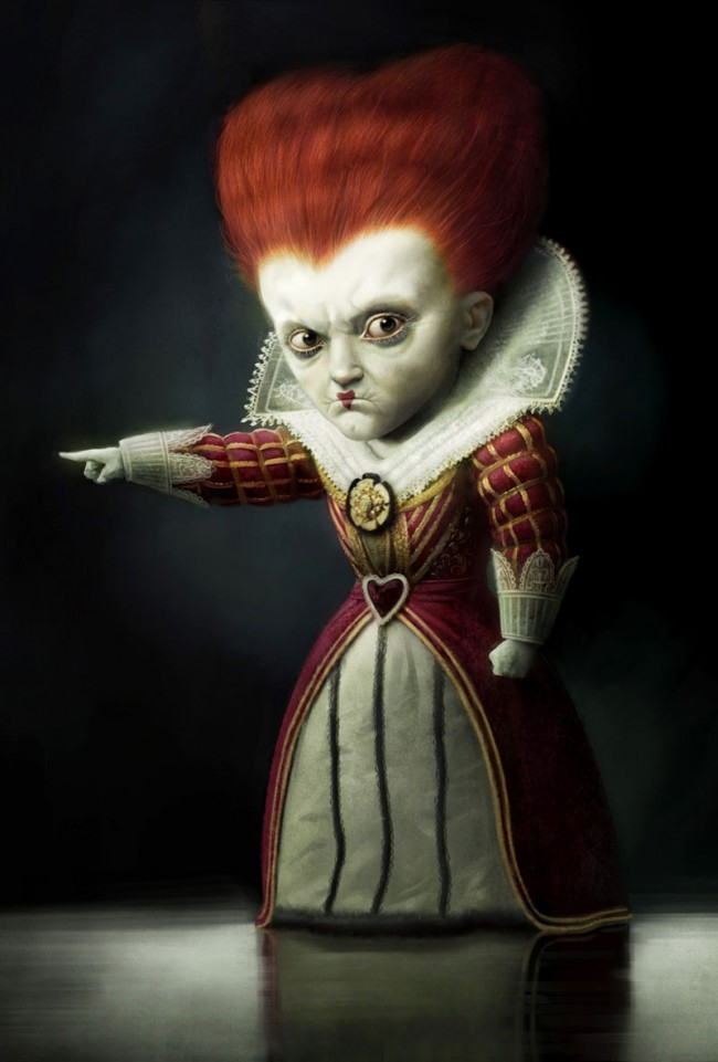 Michael Kutsches Rote Königin aus Alice im Wunderland