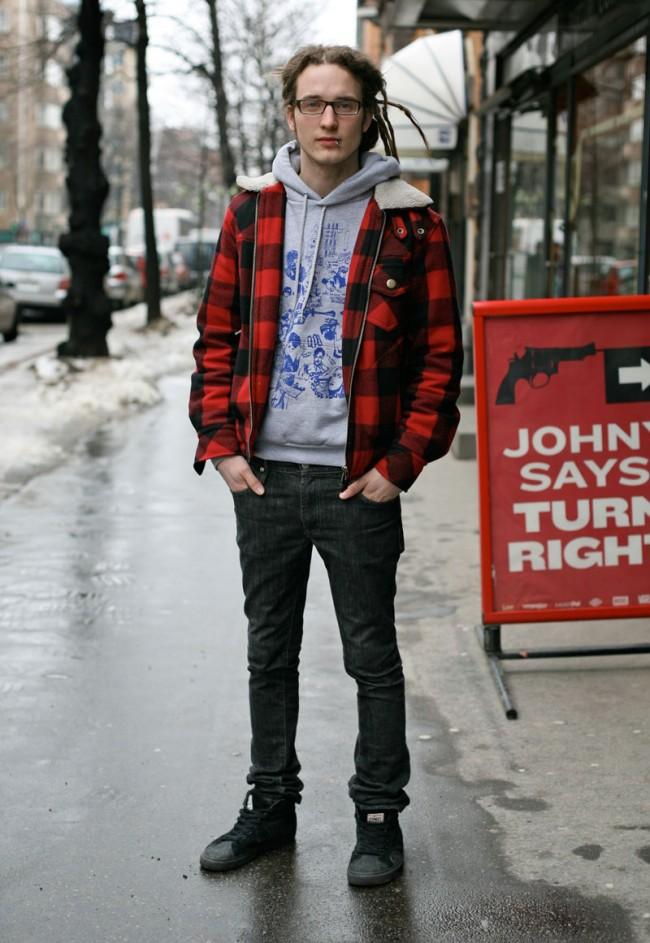 Tartan-Look | »Urban Hero« in schwarz-rot gemustertem »Rob Roy«-Tartan.