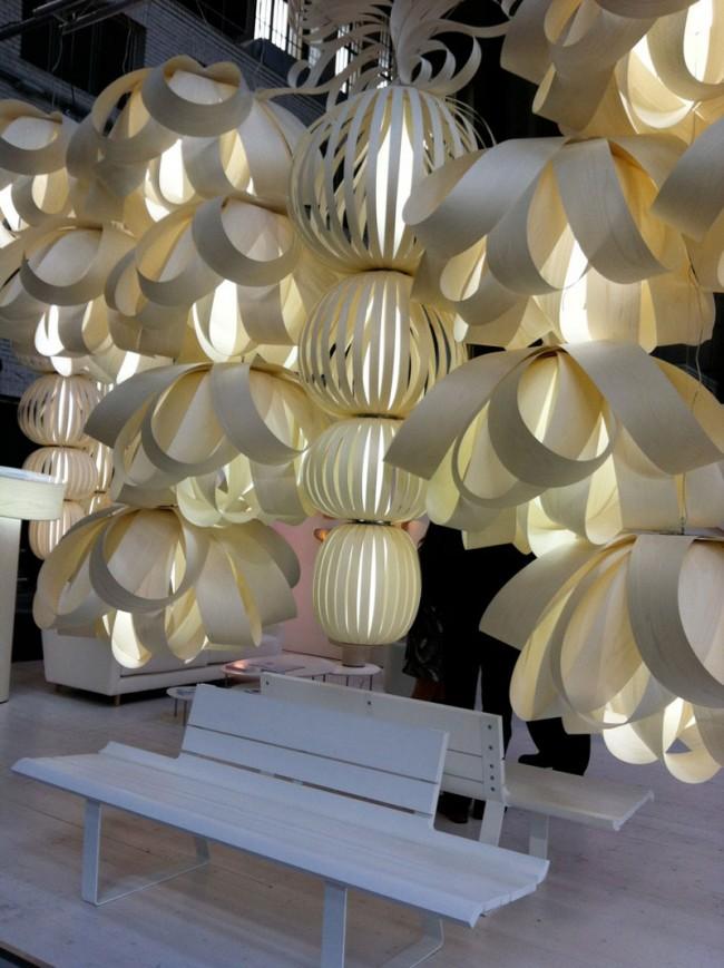Lampen als Skulptur bei lzf