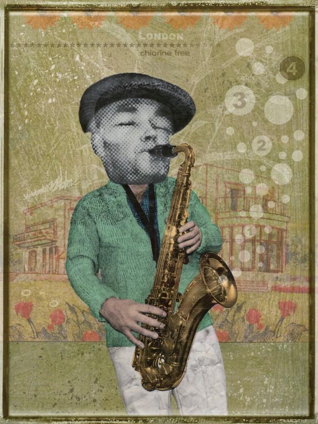 Illustration für einen Poster  für einen befreundeten Londoner Musiker