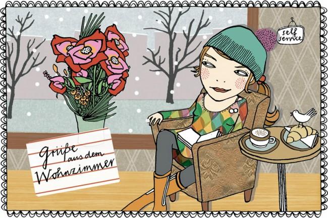 Silke Schmids Karte aus Berlin
