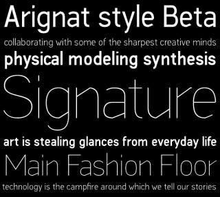 Unter seinem Label til01design entwickelt Stavros Georgakopoulos selbst Schriften – hier Arignat