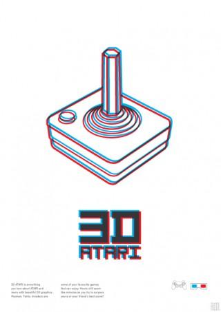 Als Eigenwerbung entwickelte Vasilis Gravaritis eine Posterserie, die »dreidimensional« mit dem eigenen Font Linus spielt