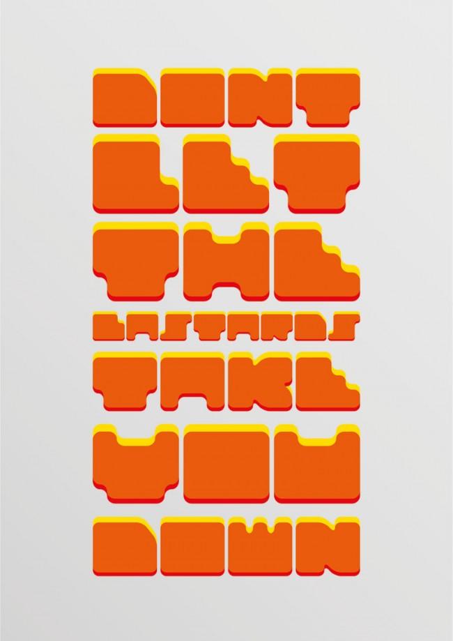Promotionposter für Leonidous Font Tiwo