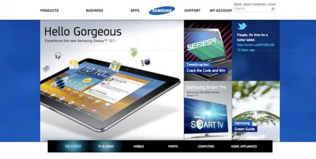 Samsung und »S MODA« nutzen auf ihren Websites die @Fontface-Technologie, um die von Parachute entwickelten Corporate-Schriften PF Square Sans bzw. PF Regal und PF Encore Sans optimal darzustellen