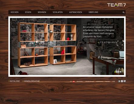 Bild Team7 Website