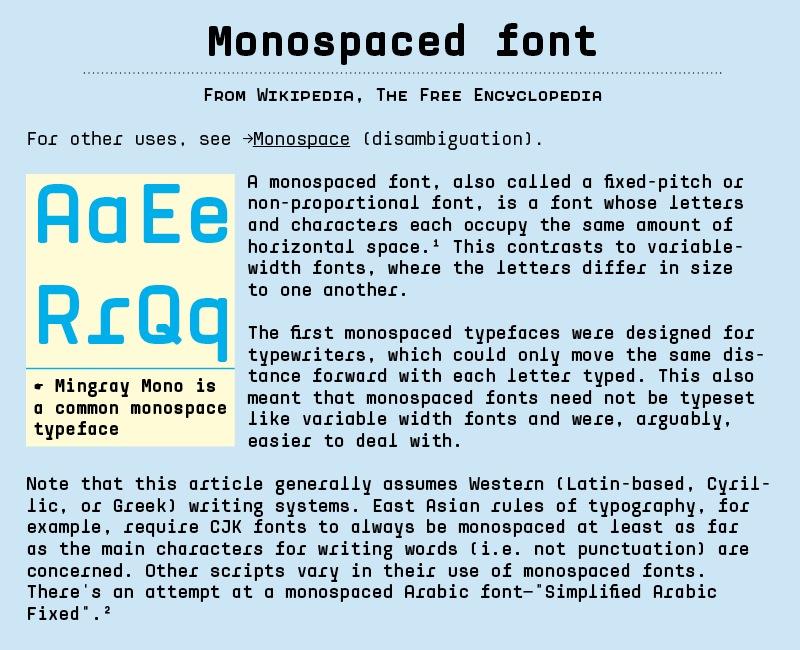 mingray-monospaced-font