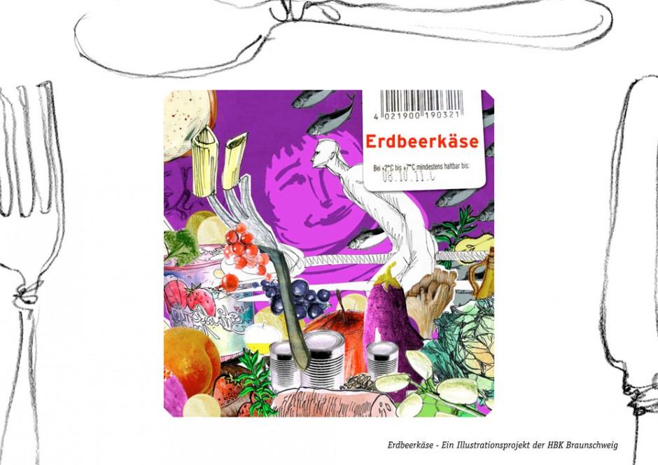 Erdbeerkäse: Das Magazin ist eine illustrative Auseinandersetzung mit gesunder Ernährung.