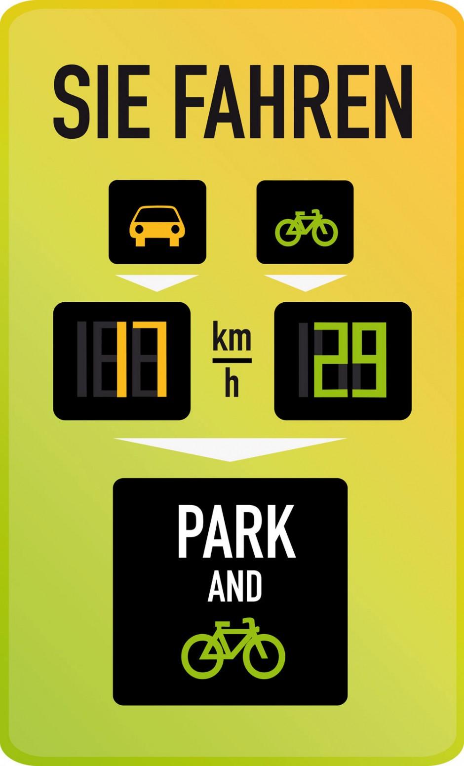 Green-Digis: Fahrradfahrer sind oft flotter unterwegs als diejenigen, die im Auto sitzen. Mit der digitalen Anzeige Green Digits will Laura Nebe den Autofahrern zeigen, dass es sich zeitlich lohnt, auf das Zweirad umzusteigen. Sie studiert an der HAWK in Hildesheim bei Carolin Taebel.