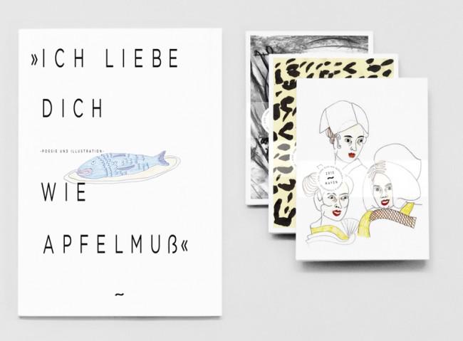 Ich liebe Dich wie Apfelmuß 2010 / Ausstellungskatalog + Postkartenserie