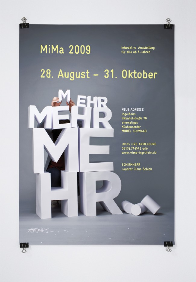 MIMA AUSSTELLUNG / Poster – Mehr,mehr,mehr