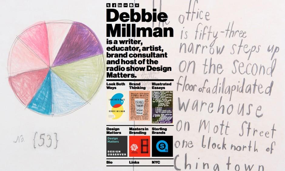 2. Platz: Debbie Millman | verwendete Schrift: Neue Haas Grotesk