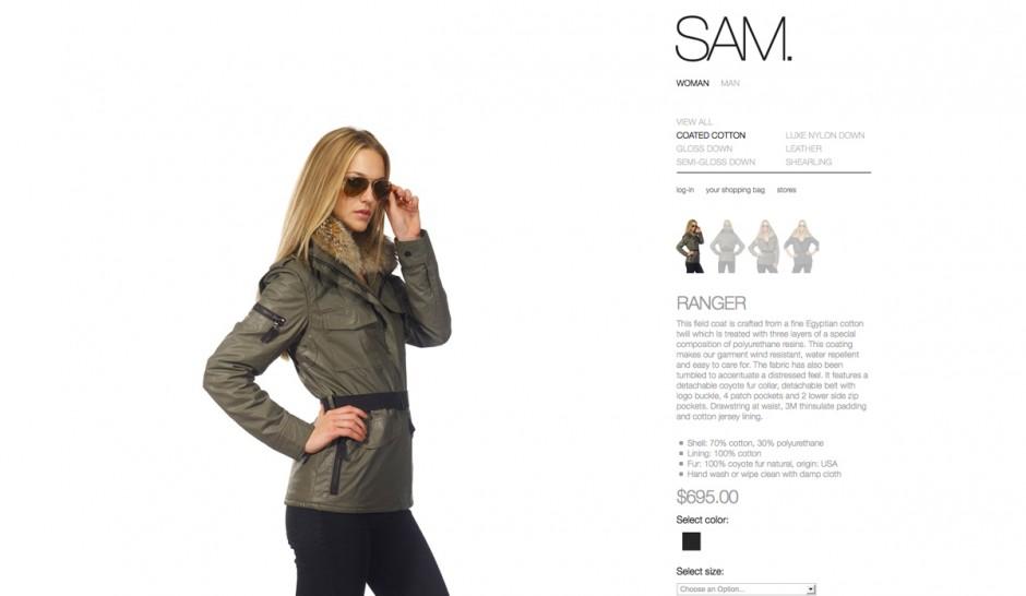 3. Platz: SAM. | verwendete Schriften: Helvetica Neue Light, Helvetica Neue Bold