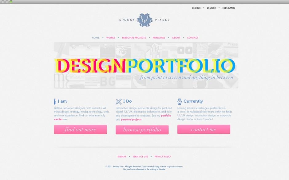 Portfolio website | verwendete Schriften: Museo, Futura Medium, Futura Light, Bauer Bodini Italic