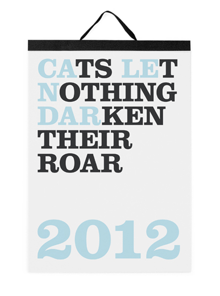 Bild Cats let nothing darken their roar Kalender 2012